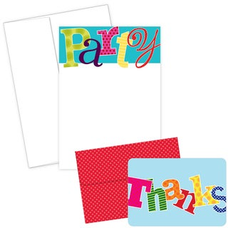 Party Invitations and Thank You Note Card Kit