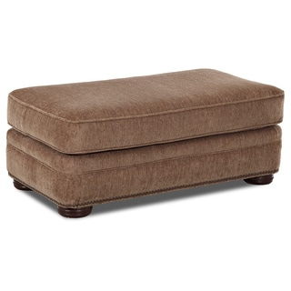 Talley Portabella Fabric/ Wood Ottoman