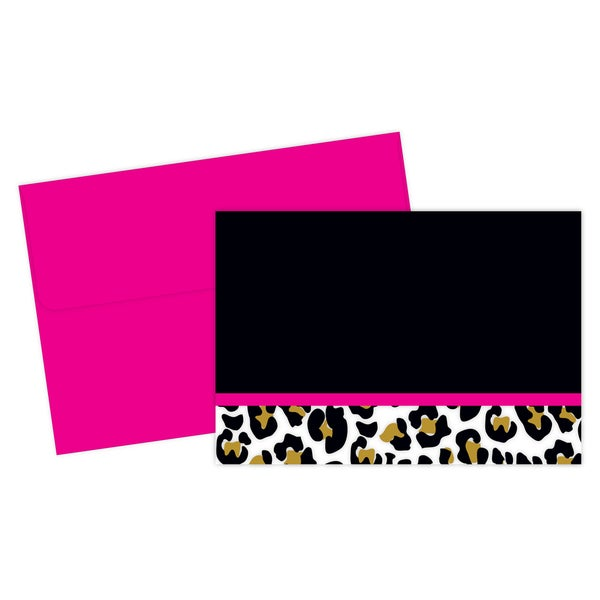 Leopard Print Thank You Note Card Set