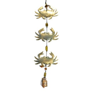 Handmade 'Triple Crab' Wind Chime (India)