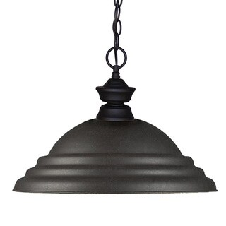 Cabaret 1-light Sand Black Pendant