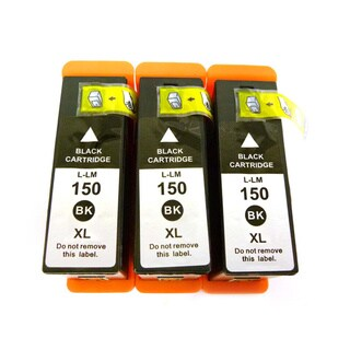 Compatible Lexmark 150XL 14N1614 Black Ink Cartridges (Pack of 3)