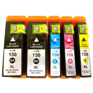 Compatible Lexmark 150XL 14N1614/ 14N1615/ 14N1616/ 14N1618 Ink Cartridges (Pack of 5)