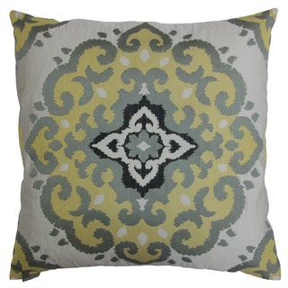 Wisdom 24-inch Square Decorative Down Filled Throw Pillow