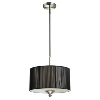 Z-Lite Manhattan 3-light Brushed Nickel Pendant