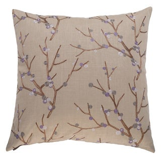 Sprout 24-inch Square Decorative Feather Filled Throw Pillow
