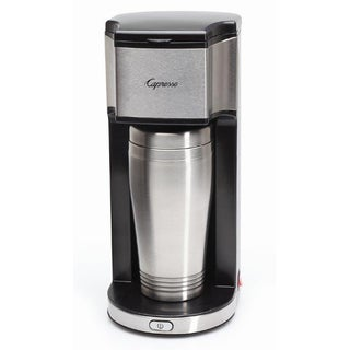 Capresso On-The-Go Personal Coffee Maker With 16-Ounce Stainless Steel Insulated Travel Mug