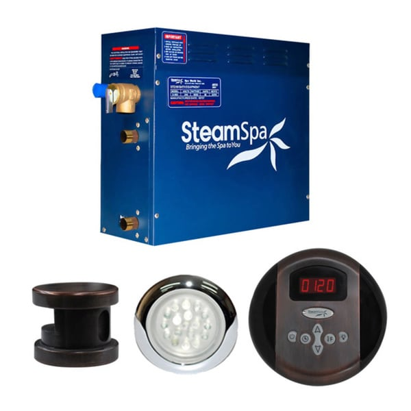 SteamSpa Indulgence 6kw Steam Generator Package in Oil Rubbed Bronze