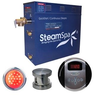 SteamSpa Indulgence 7.5kw Steam Generator Package in Brushed Nickel