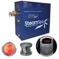 SteamSpa Indulgence 9kw Steam Generator Package in Brushed Nickel