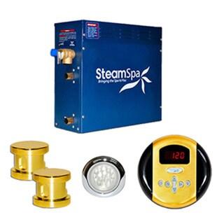SteamSpa Indulgence 10.5kw Steam Generator Package in Polished Brass
