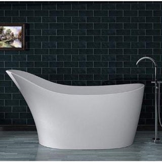 Mountain Home Dash 30x67-inch Man Made Stone Soaking Freestanding Bathtub