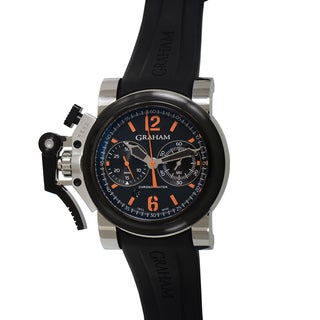 Graham Men's 'Chronofighter' Black Strap Oversize Watch
