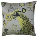 Peacock Decorative Feather Filled Throw Pillow