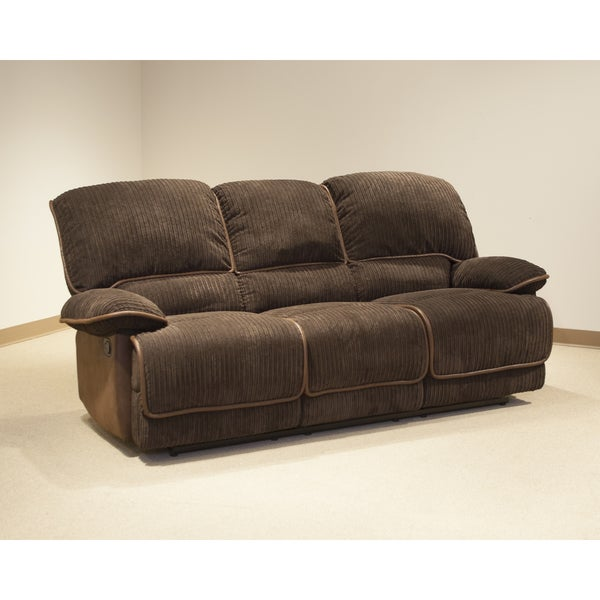 Reggie Denver Chocolate Reclining Sofa