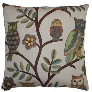Wise Guy Decorative Feather Filled Throw Pillow