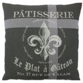 Patisserie 24-inch Feather Filled Throw Pillow