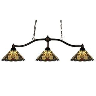 Z-Lite Chance 3-light Bronze Billiard Light