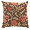 Cottage Inn Floral Decorative Feather Filled 24-inch Throw Pillow