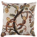 Crazy Monkey Decorative Feather Filled Throw Pillow