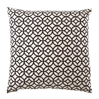 24-inch Prism Black/ White Geometric Feather Filled Throw Pillow
