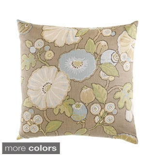 24-inch Hip Floral Decorative Feather Filled Throw Pillow