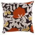 24-inch Mumsy Floral Decorative Feather Filled Throw Pillow