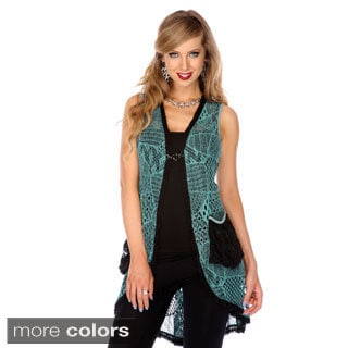 Women's Openwork Sleeveless Tunic