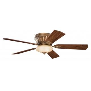 Transitional Berkshire Bronze Ceiling Fan and Light Kit