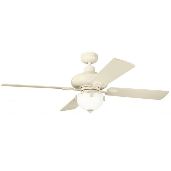 Transitional Adobe Cream-finished Ceiling Fan and Light kit