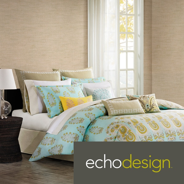 Echo Design Paros 300 Thread Count Cotton 3-piece Duvet Cover Set