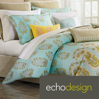 Echo Design Paros 300 Thread Count Cotton 3-piece Duvet Cover Set