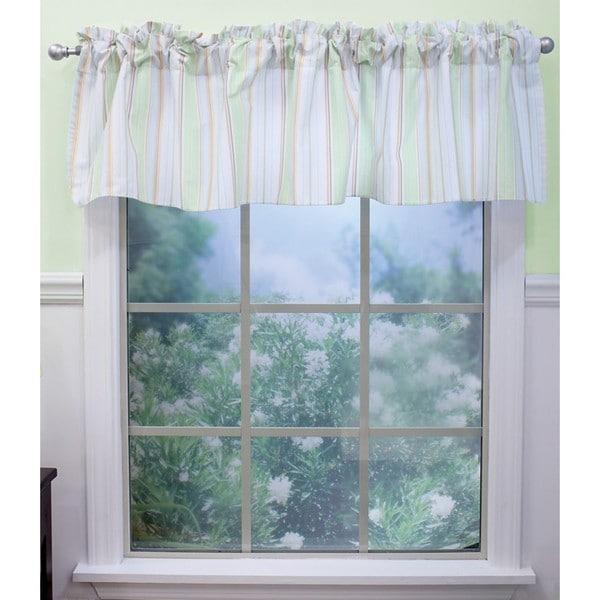 Nurture Imagination Neutral Stripe Window Valance