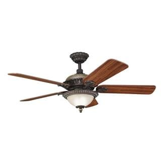 Traditional Colton Bronze Ceiling Fan and Light Kit