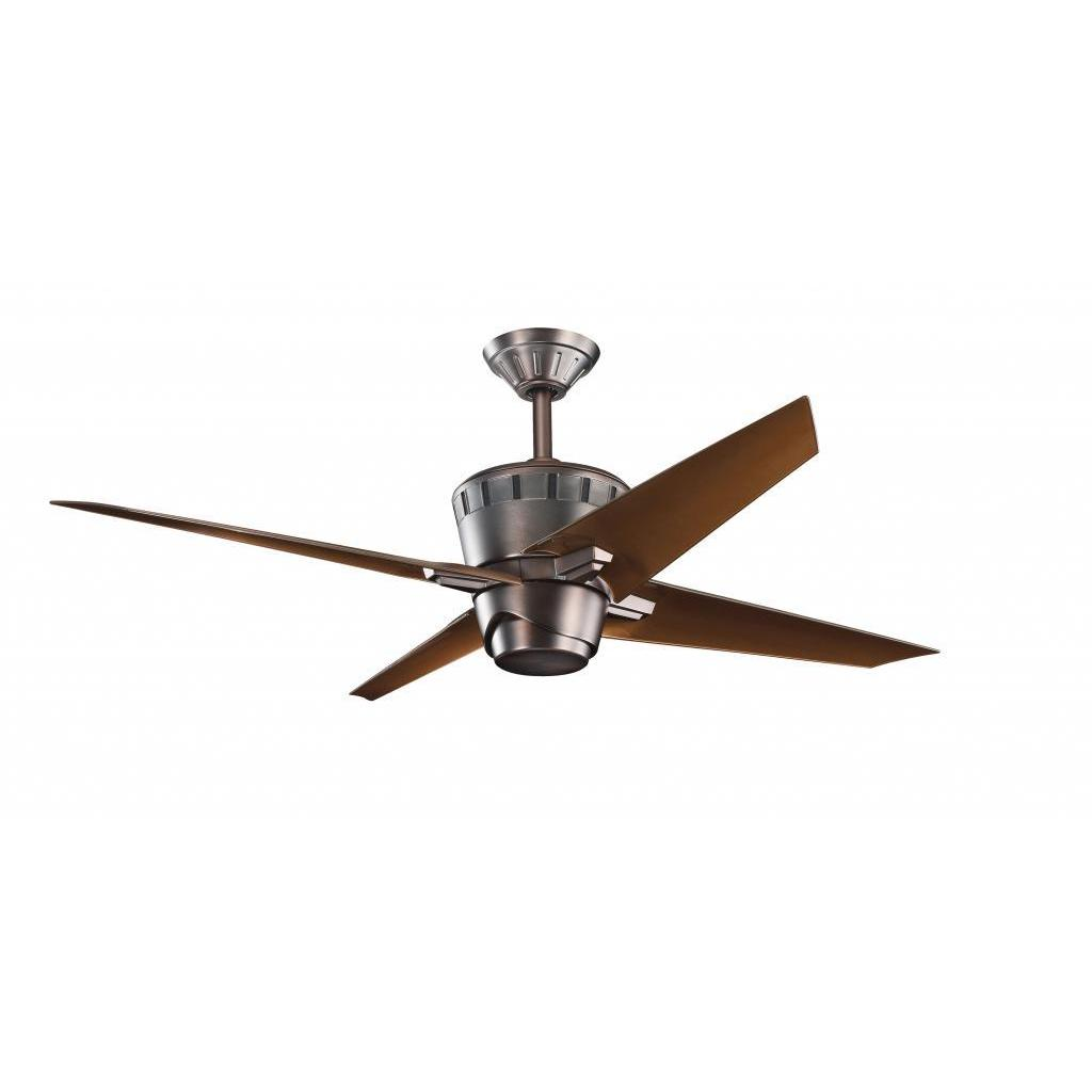 Overstock.com Contemporary Oil-brushed Bronze Ceiling Fan and Light Kit at Sears.com