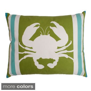 Callie Crab Printed Feather Fill Throw Pillow
