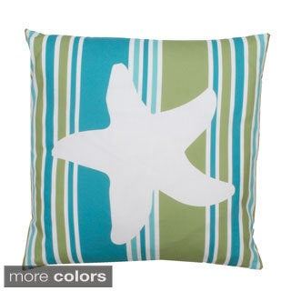 Samantha Starfish Printed Feather Fill Throw Pillow
