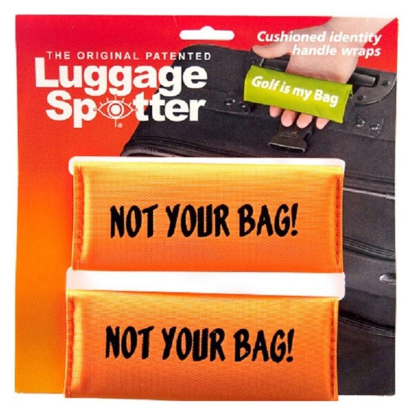 Not Your Bag' Bright Orange Original Patented Luggage Spotter