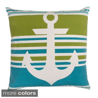 Andy Anchor Printed Feather Fill Throw Pillow