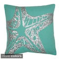 Stanley Starfish with Sequin Feather Fill Pillow