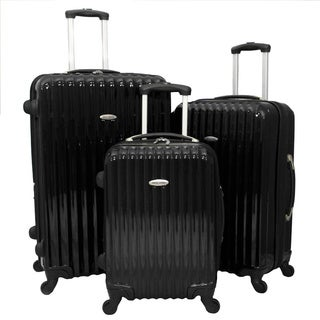 World Sport Expandable 3-piece Hardside Spinner Luggage Set