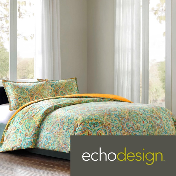 Echo Design Beacons Paisley Cotton 3-piece Comforter Set