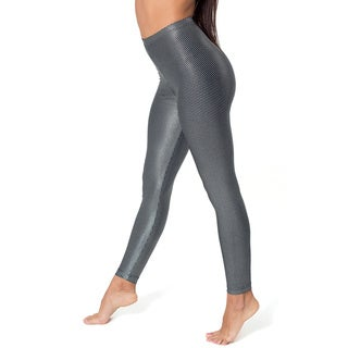 American Apparel Women's Silver/ Black Printed Shiny Leggings