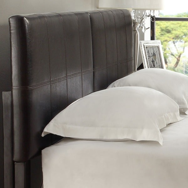 Square King Or Cal King Synthetic Leather Upholstery