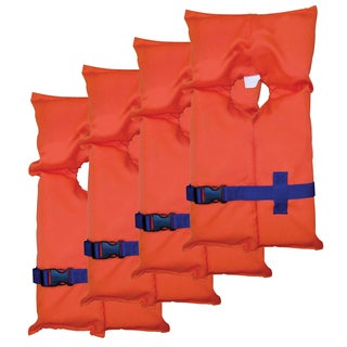 Stearns Adult Life Jackets with Vinyl Bag (Pack of 4)