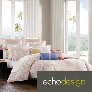 Echo Laila Cotton 300 Thread Count 3-piece Duvet Cover Set