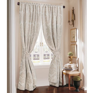 Rose Tree Crystal Jacquard Rod Pocket Curtain Panel Pair