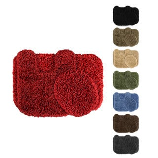 Serenity Washable 3-piece Bath Rug Set