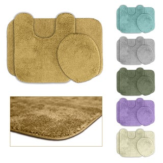 Cheltenham Washable 3-piece Bath Rug Set