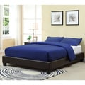 Basic Chocolate Upholstered Platform Bed